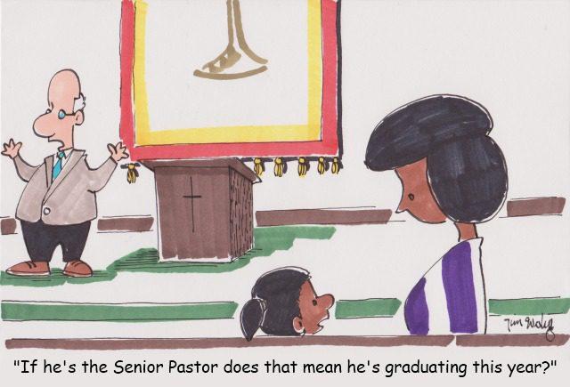 Senior Pastor Graduating